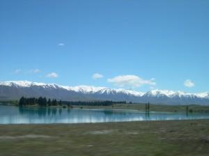 Pukaki-tó Új-Zéland